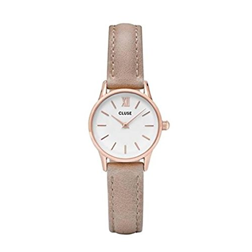Cluse Damen Analog Quarz Uhr mit Leder Armband CL50027
