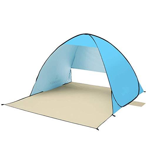 Viajes montañismo tienda de la playa Tienda de campaña de Super sombrilla de playa al aire libre Toldo Cabina pop-up automático Sombrilla acampa portable adecuado for el senderismo camping familiar y
