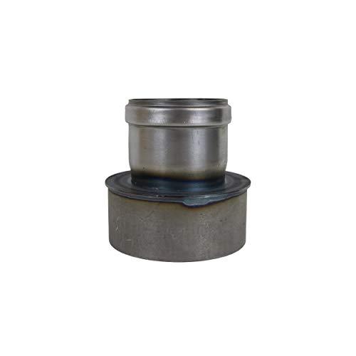 Pelletrohr Ofenrohr Pellet Rauchrohr Kaminrohr Erweiterung Ø 80mm auf 120 mm grau schwarz unlackiert (80mm auf 120 mm, unlackiert)