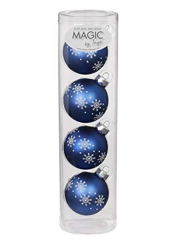 Magic Bolas Cristal para árbol de Navidad, decoración navideña, Juego de Bolas, 6 cm
