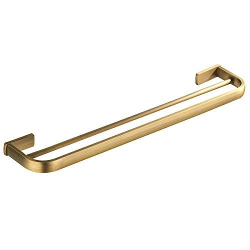 Bathfirst Doppel-Handtuchhalter 57 CM/22.44 Inchs Messing Golden für Badezimmer