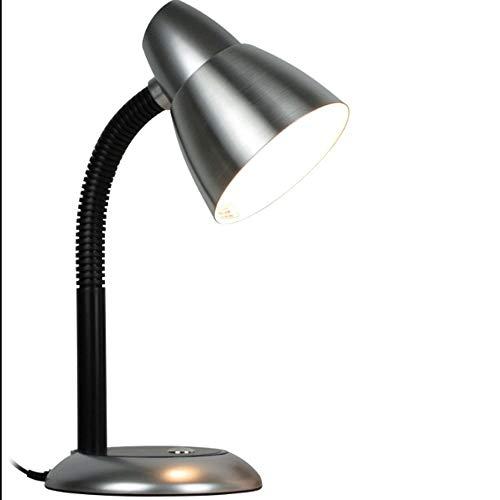 Estilo moderno lámpara de mesa de Moderna simple del metal del diseño básico de la manguera flexible de cuello de lámpara de escritorio, aleación de aluminio de Estudio Escritorio Luz Tabla de Estudio