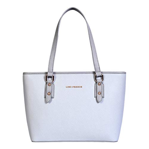 Lino Perros Womens Blue Synthetic Leather Tote (Blue)