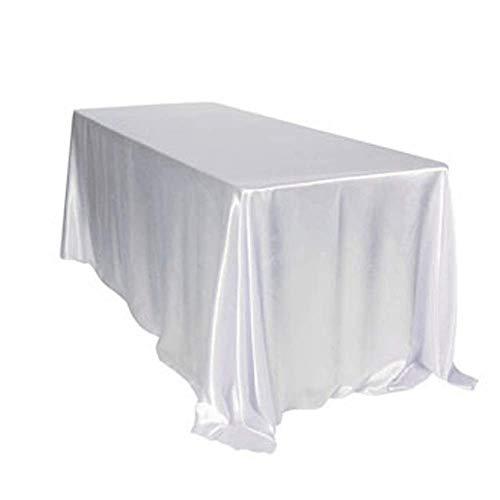 TINWARM Tischdecke für Hochzeitsbankett, weiß, 228x335CM, Bankettveranstaltung Die Beste Wahl für die Taufdekoration