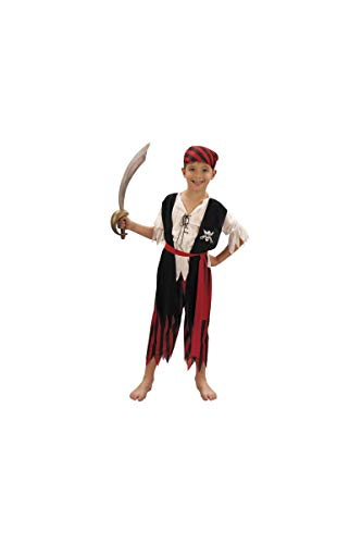 Party Pro- Déguisement de moussaillon pirate, Boys, 8728879046, 4-6 ans