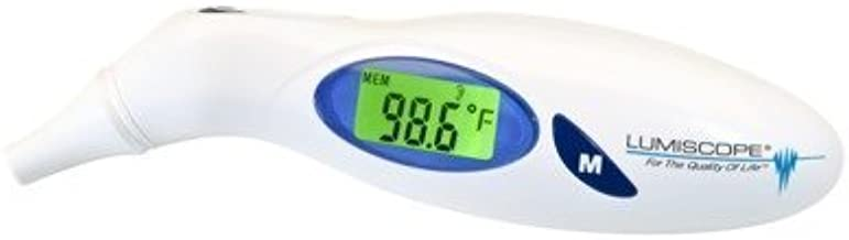 Lumiscope Digital Ear Thermometer - 1 Second - Celsius, Fahrenheit Reading - Clock - For Ear