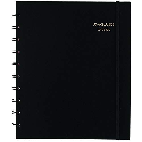 "AT-A-GLANCE 2019-2020 Academic Year Weekly & Monthly Planner/Appointment Book, Large, 9"" x 11"", Black (70957E05)"