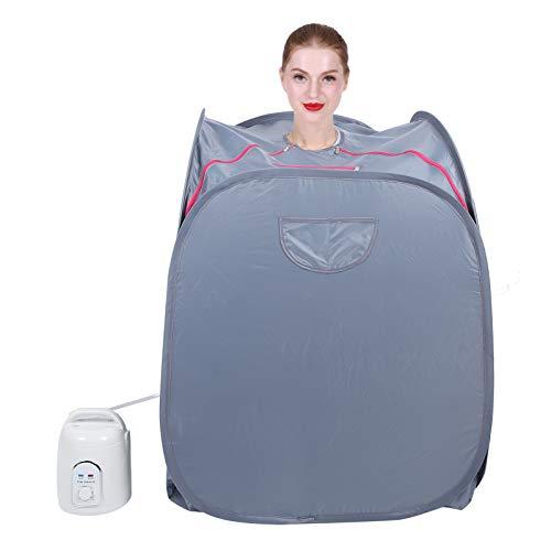 Tragbares Infrarot-Spa zu Hause, leichtes zusammenklappbares Saunazelt zur Gewichtsreduktion, Abnehmen, Entgiftung, Entspannung zu Hause, persönliches Spa-Zelt mit 1,5-l-Dampfgarer(EU)