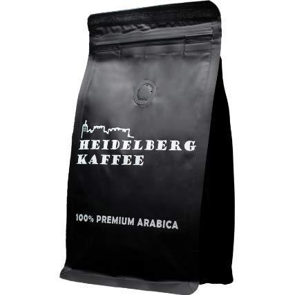 HEIDELBERG KAFFEE Kaffeebohnen 500g - Premium Arabica - ganze Bohnen -Traditionelle Trommelröstung - Single Origen - 100% Arabica (500 GR)