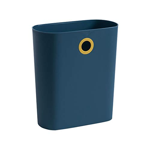 Smalle Trash Can Kitchen, Hung En Put Vuilnisbak Zonder Deksel Papiermand Voor Office Huis Living Room Bathroom Toilet,Blue