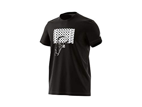 adidas Adi Hoop Tee - T-Shirt Sportiva Uomo - CW9192 (XS)