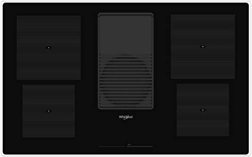 Whirlpool - Piano cottura a induzione con cappa integrata WVH 92 K finitura nero da 83cm