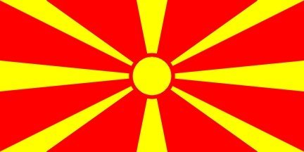 Mazedonien-Mazedonischen Sonne Flagge 150cm x 90cm