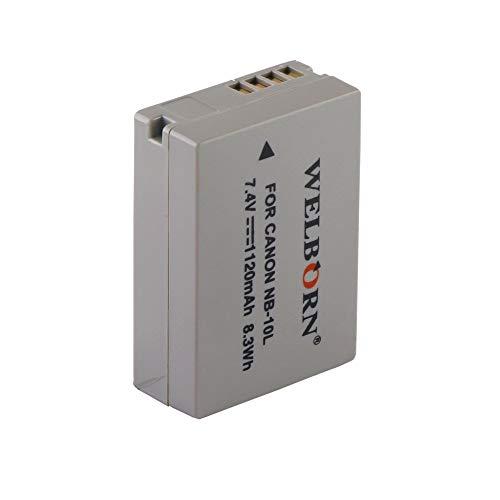 WELBORN NB10L Rechargeable Battery Pack Compatible with Canon Digital IXUS | Power Shot SX40HS,SX50HS,SX60HS | Canon Camera Battery