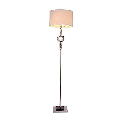 Lampadaire salon chambre étude lampe de chevet lampe verticale (Couleur : Blanc)