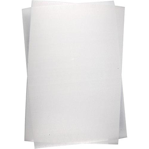 Hojas de plástico retráctiles, 20 x 30 cm, transparente mate, 10 hojas