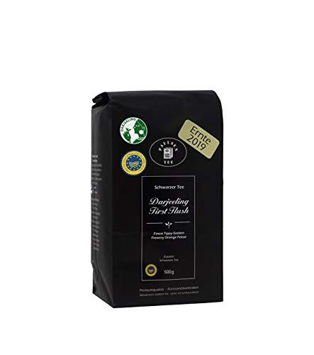 Paulsen Tee Schwarzer Tee Darjeeling First Flush, Ernte 2019, 500g, rückstandskontrolliert & zertifiziert