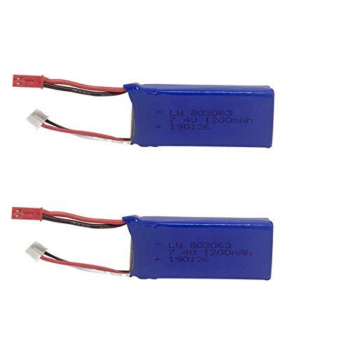zjpvip218 Los Batterie für Yizhan Tarantula X6 7,4 v 1200 mAh JST Für WLtoys Quadcopter Drone für V666 V262 V323 Hubschrauber Spielzeugteile-2St