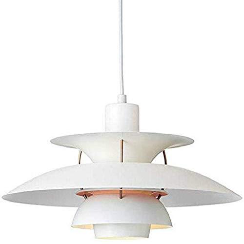 Nordic Moderne PH5 Pendelleuchte Einfache E27 Farbige Kronleuchter Metall Regenschirme hängende Lampen Küchen Zubehör Restaurant-Dekoration-Beleuchtung Pendelleuchte ? 11,8 Zoll (Weiß)