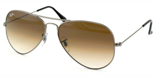 Ray-Ban Aviator Full Color - Gafas de sol para hombre, color gunmetal, talla 55