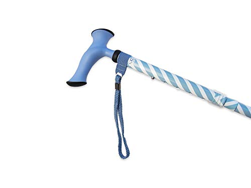 Charming Canes Adjustable Folding Walking Stick with Carrying Case