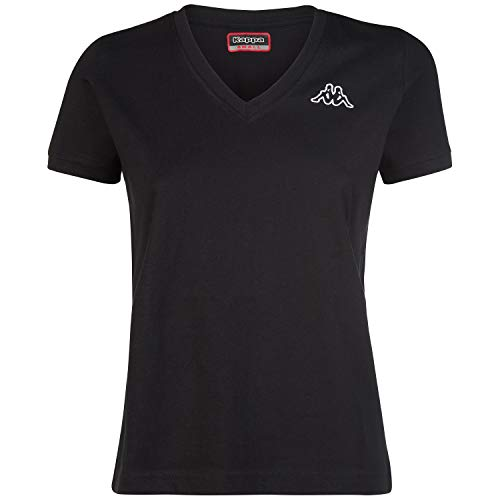 Kappa Logo Cabou Camiseta, Negro, L para Mujer