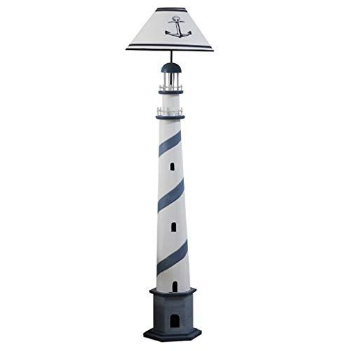YIXIN2013SHOP Stehleuchte Retro Leuchtturm Stehlampe Wohnzimmer Schlafzimmer Nachttischlampe Energiesparende Kinder Vertikale Tischlampe Sofa Lampe Stehleuchte Wohnzimmer (Color : Blue)