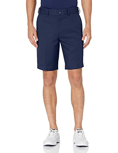 PGA TOUR Men's Expandable Flat Front Golf Short, Black Iris, 36