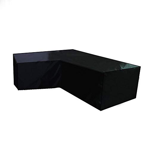SlimpleStudio Windproof Anti-UV,Outdoor furniture cover L-shaped corner sofa waterproof cover 210D black-222x286cm