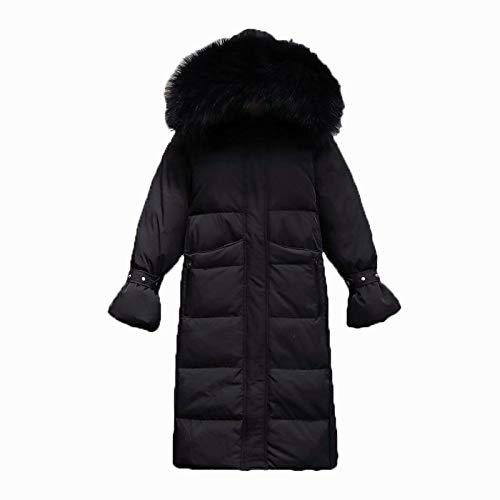 JYDJ FMFSSOM Winterjacke Frauen Baumwolle Gepolsterte Schlanke Kapuze Große Waschbärpelz Parkas Ladys Mittellange Jacken Weibliche Warme Oberbekleidung