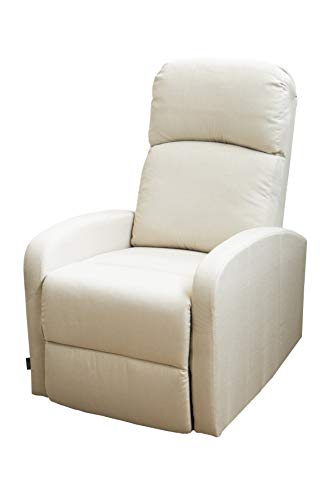 Astan Hogar Confort Plus Sillón Relax, Tela, Crema, Compacto