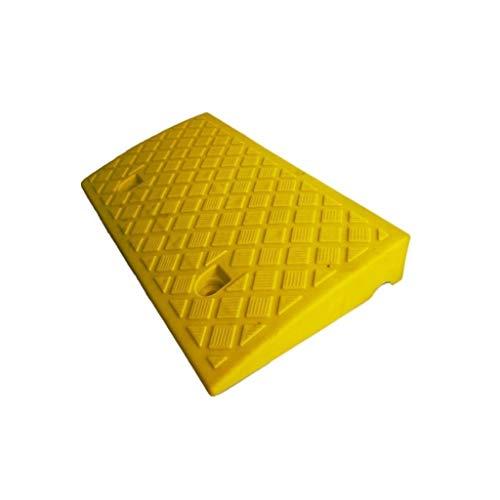 CJXing-Slope pad rutschfeste Dreieck-Auflage, Plastiksteigungs-Auflage-Krankenhaus-untaugliche Rollstuhl-Rampen-Taxi-tragbare schützende Reifen-Aufstiegsauflage (Color : Yellow, Size : 50 * 27 * 7CM)