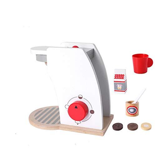 Ulalaza Máquina de café de Madera Simulación Cocina Chef Juguetes Juego de imaginación Juguete para niña Niño Regalos