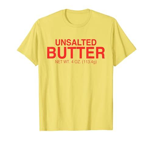 Mantequilla sin sal divertido disfraz de Halloween Mantequilla divertida Camiseta