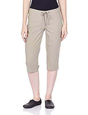 Columbia Women's Anytime Outdoor Capri, Water and Stain Repellent, Tusk, 10x18