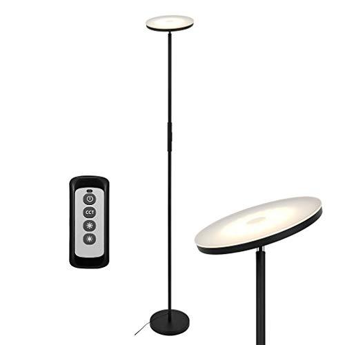 Anten 20W Lámpara de Pie Regulable con Mando, LED Lámparas de Pie Negro para Salon/Dormitorios Modernas Nordicas