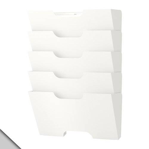 IKEA - KVISSLE Wandmagazinständer, weiß