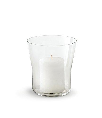Authentics Piu Vase, Hauteur 15 cm, Vase à Fleurs, Transparent, Verre Soufflé de Manière Artisanale, 28185