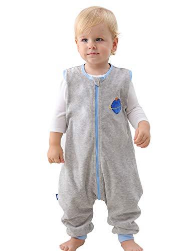 ililmmoe Baby Sleep Sack Spring Autumn Warm Infant Walking Sleeping Bag with Legs Wearable Blankets Pajamas 6months-4Years Neptune/S