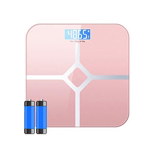 BingWS Digitale personenweegschaal voor lichaamsgewicht elektronische personenweegschaal met weegschaal met Step-on-technologie voor diagnose en gezondheid