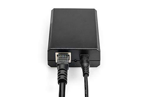 DIGITUS PoE+ Splitter - IEEE802.3at - Gigabit Ethernet - Ausgangsspannung 5, 9, 12 Volt - DC 3.5mm Stecker & Buchse