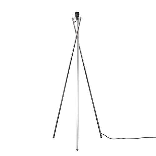 Base moderna de lámpara de pie de metal cromado pulido