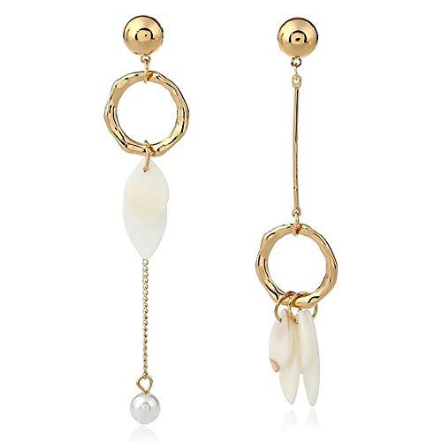 Damen-Ohrringe mit Perlen-Anhänger, Party-Schmuck.