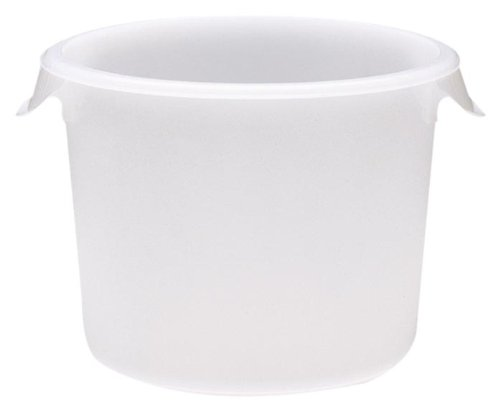 New Rubbermaid Commercial Products Plastic Round Food Storage Container for Kitchen/Food Prep/Storin...