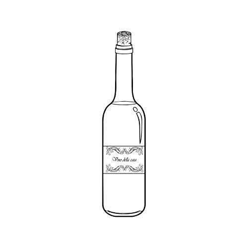 Sello de madera para botella de vino, 30 x 95 mm, para scrapbook