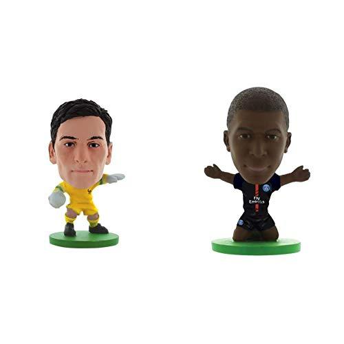 SoccerStarz - 400337 - Figurine - Sport - Le Pack De 1 Figure De L'équipe De France & Home Kit 2018 Version Paris St Germain Kylian Mbappe Figurine, SOC1199