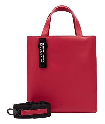 Liebeskind Berlin Paper Bag Tote, Small (25 cm x 20.5 cm x 11.5cm), red pepper