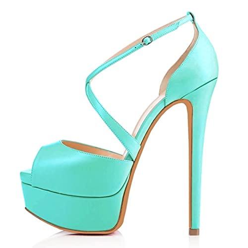 TER Sandalias de tacón Alto para Mujer, Zapatos de Novia ultramodernos, Sandalias...