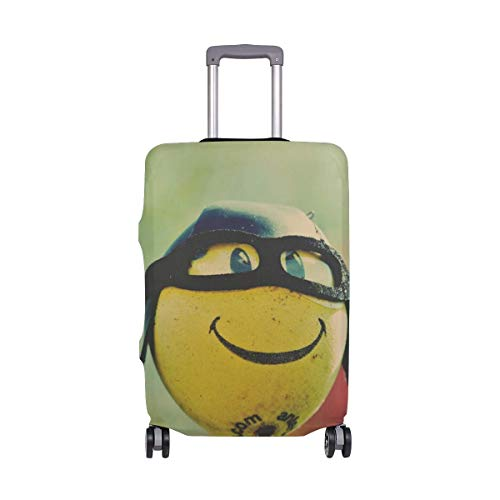 Travel Lage Cover Smile Ball Glasses Humor Suitcase Protector Fits 26-28 Inch Washable Baggage Covers