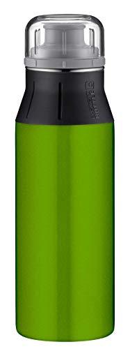 alfi Edelstahlflasche elementBottle Real Pure grün, Trinkflasche Edelstahl 600ml, auslaufsicher, spülmaschinenfest, 5357.138.060 BPA Frei, Flasche für Wasser, Saft, Tee, Softdrinks, toGo oder im Büro
